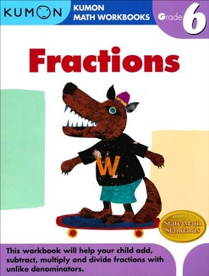 Kumon Fractions, Grade 6    -