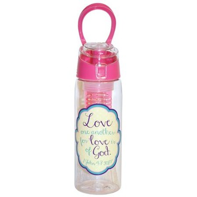 Love One Another, Infuser Water Bottle, Pink  -