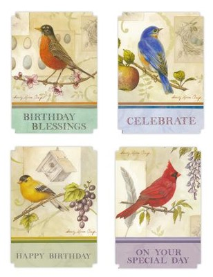 Happy Birthday, Song Birds Cards, Box of 12  -