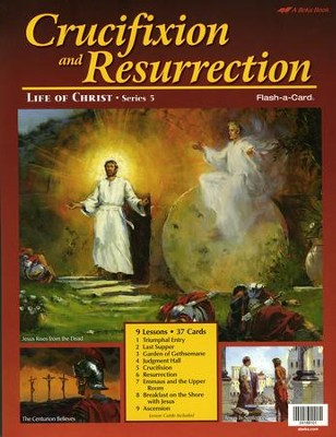 Crucifixion and Resurrection Flash-a-Card Bible Lesson   -
