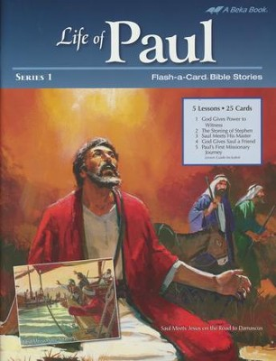 Abeka Life of Paul Series 1 Flash-a-Card Bible Stories  -