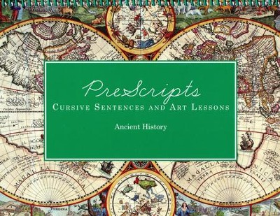 PreScripts Cursive Sentences and Art Lessons: Ancient History  -