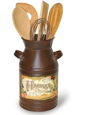 Harvest Blessings, Vintage Milk Can Utensil Set, 5 utensil  -