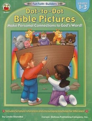 Dot-to-Dot Bible Pictures Gr 1-3  -     By: Linda Standke