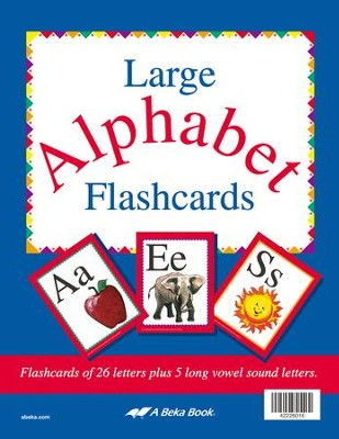 Abeka Large ABC Flashcards, Grade 2   -