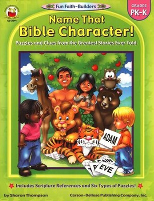 Name That Bible Character! Gr PK-K  -     By: Sharon Thompson