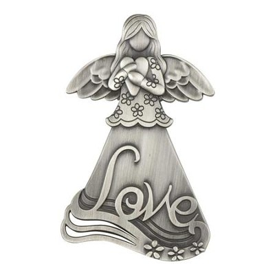 Love Magnet with Angel Holding a Heart  -