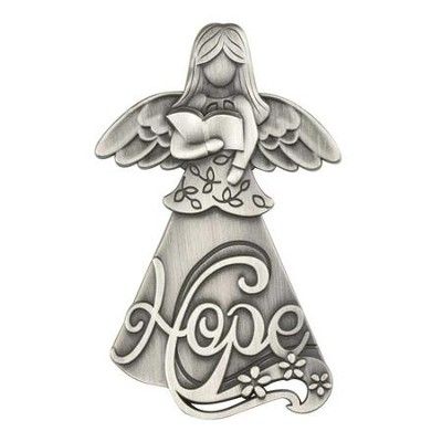 Hope Magnet with Angel Holding a Bible  -
