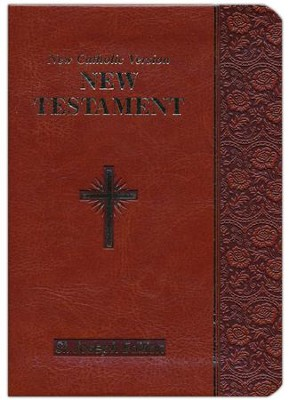St. Joseph New Testament: New Catholic Version, Imitation Leather, Brown    -