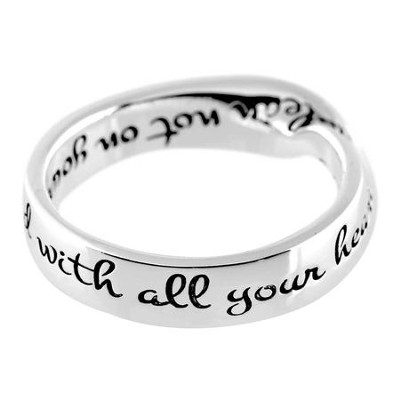 Proverbs 3:5 Mobius Ring, Size 9  -