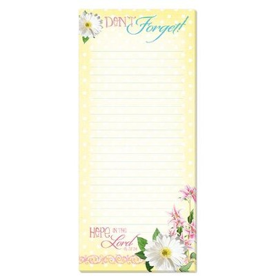 Hope in the Lord, Magnetic Note Pad  -