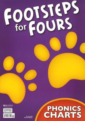 K4 Footsteps for Fours Phonics Charts Set, 2nd Edition   -