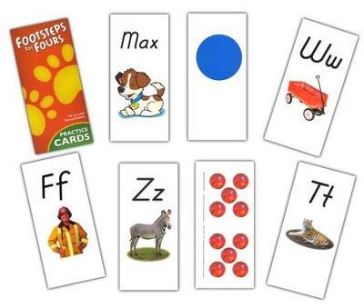 K4 Footsteps for Fours Student Practice Cards, 2nd Edition   -