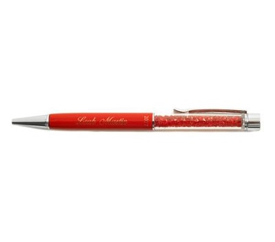 Personalized, Pen with Jewels, Graduation, Red   -