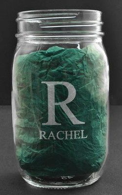 Personalized, Mason Jar, 16 Ounces, Monogram   -