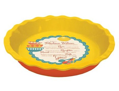 Fabulous Woman Pie Plate  -