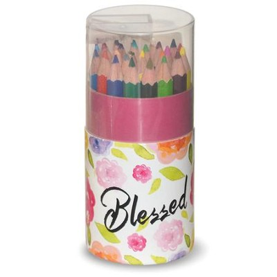 Colored Pencils, Compact Tube, Blessed, 24 Pieces   -