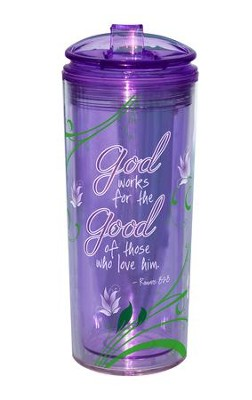 God Works For the Good, Flip Tumbler  -