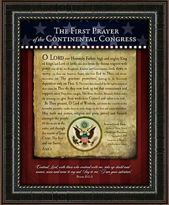 First Prayer of the Continental Congress Framed Art  -
