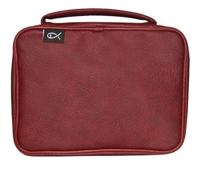 Deluxe Bible Cover, Burgundy, Compact  -