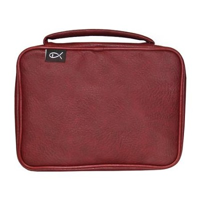 Deluxe Bible Cover, Burgundy, Large  -