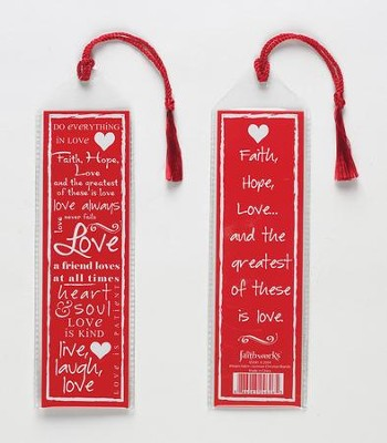 Love Bookmark, Red  -     By: Miriam Hahn