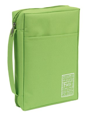 Faith Bible Cover, Green, Large  -