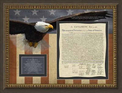 Declaration of Independence, 2 Chronicles 2:14, Framed Art  -