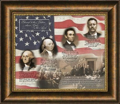 Patriotic Quotes, Psalm 33:42, Framed Art   -