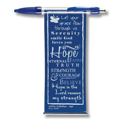 Hope Banner Pen, Blue  -     By: Miriam Hahn