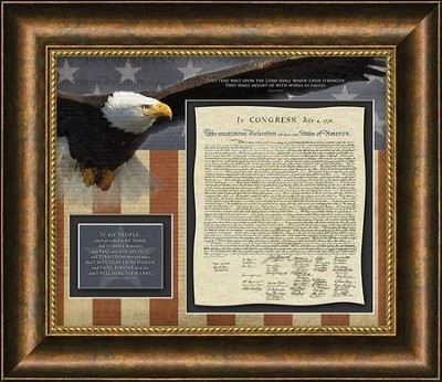 Declaration of Independence, 2 Chronicles 7:14, Framed Art   -
