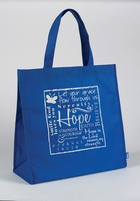 Hope Tote Bag, blue  -     By: Miriam Hahn
