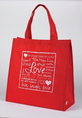 Love, Tote Bag - Red    -     By: Miriam Hahn