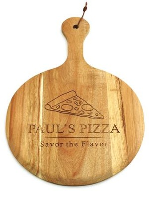 Personalized, Wooden Pizza Paddle, Pizza Slice   -
