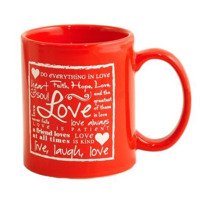 Love Mug, Red  -     By: Miriam Hahn