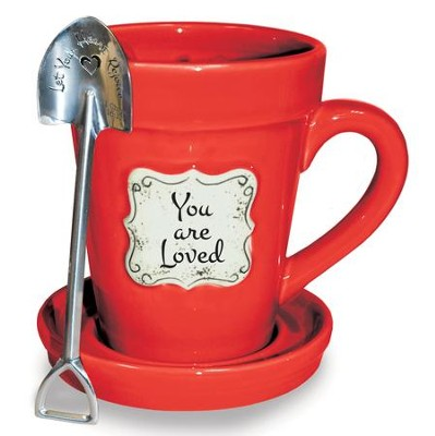 You Are Loved, Flower Pot Mug  -