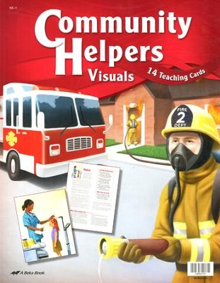 Abeka Community Helpers Visuals (Grade K5; 14 Cards)   -