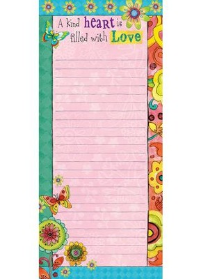 A Kind Heart Is Filled With Love List Pad  -