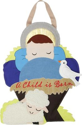 A Child is Born, Manger, Wall Decor  -