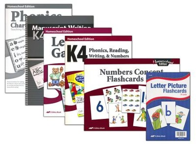 Abeka Grade K4 Manuscript Essential Parent Kit  -