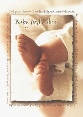 Baby Dedication Certificates, 6                  -