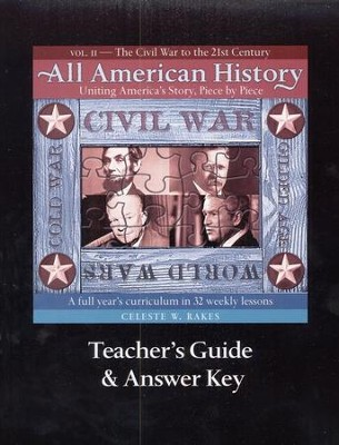 All American History Volume 2 Teacher Guide with Answer Key  -     By: Celeste W. Rakes