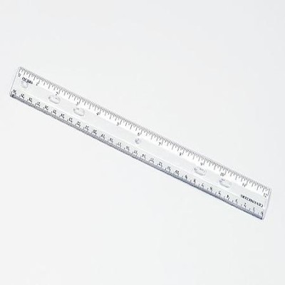 12 Clear Plastic Ruler   -