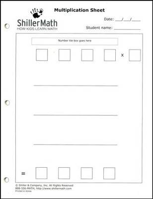 ShillerMath 24-Page Multiplication Worksheets Pad   -