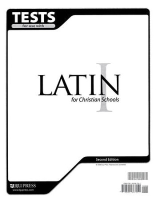 BJU Latin 1 Tests, Second Edition    -