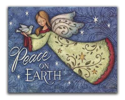 peace on earth angel christmas cards box of 18 - Peace On Earth Christmas Cards