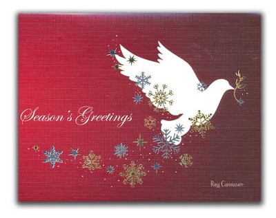 Season's Greetings, Dove, Christmas Cards, Box of 18  -