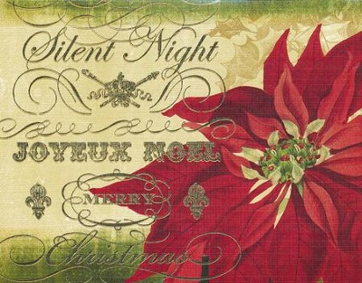 Silent Night, Poinsettia, Christmas Cards, Box of 18  -