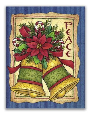 Peace, Bells, Christmas Cards, Box of 18  -