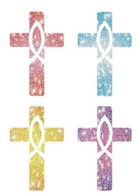 120 Crosses Christian Dazzle Stickers   -